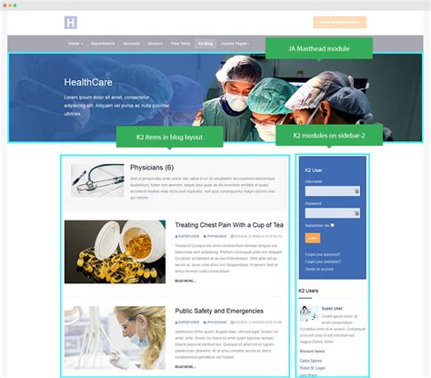 change category blog layout joomla ja healthcare joomla templates and extensions provider