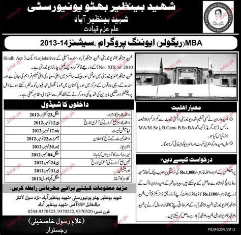 Government For Mba Marketing by Admission In Mba In Shaheed Benazir Bhutto 2018