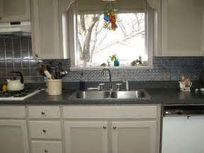 Tin Tiles For Backsplash In Kitchen by Faux Tin Backsplash De Decorative Ceiling
