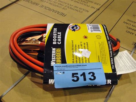 western rugged one set of western rugged booster cables
