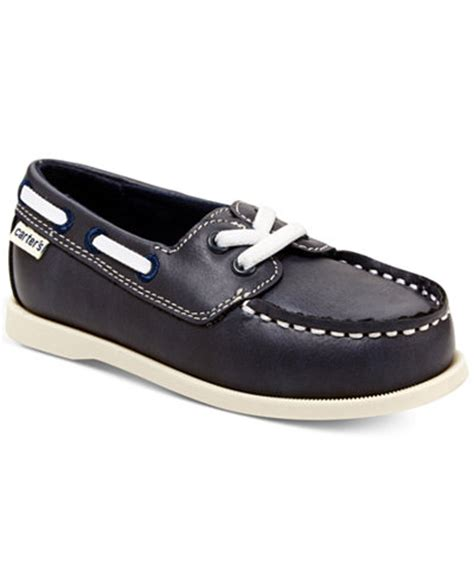 carter s boat shoes carter s little boys or toddler boys ian boat shoes