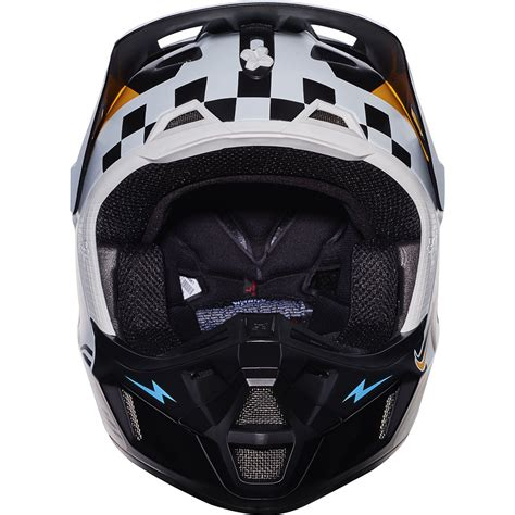new motocross helmets fox racing 2017 mx new v2 rohr white orange blue dirt bike