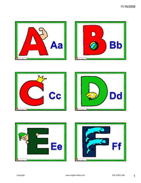 free printable english alphabet flash cards english for kids esl kids alphabet and phonics flashcards