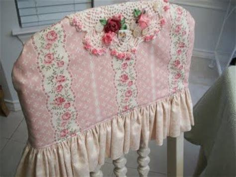 chairback covers cute shabby chic cottage fabric with