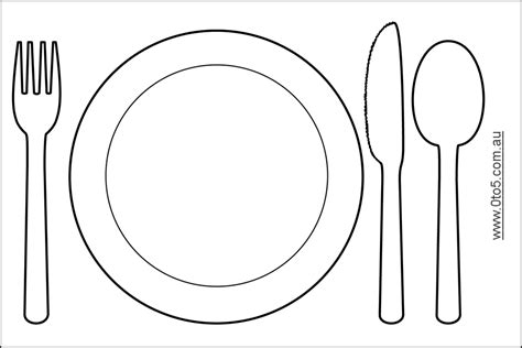 Plate Fork And Knife Clipart 41 Fork Template Printable