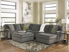 French Country Chaise Lounge Sole Oversized Modern Gray Fabric Sofa Couch Sectional Set