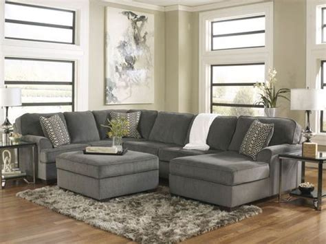 grey sectional living room sole oversized modern gray fabric sofa couch sectional set