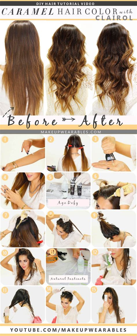 best at home hair color tips how to dye your hair at home how to color hair at home caramel brown ombre