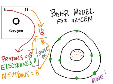oxygen bohr diagram bohr model oxygen science showme