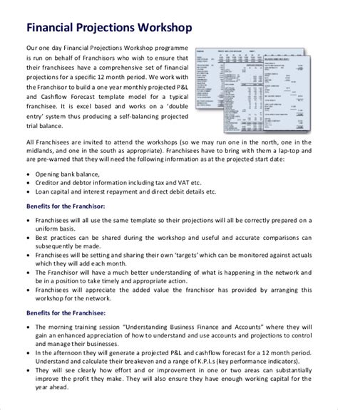 8 Financial Projection Templates Free Word Pdf Documents Download Free Premium Templates Financial Projection Template For Startup