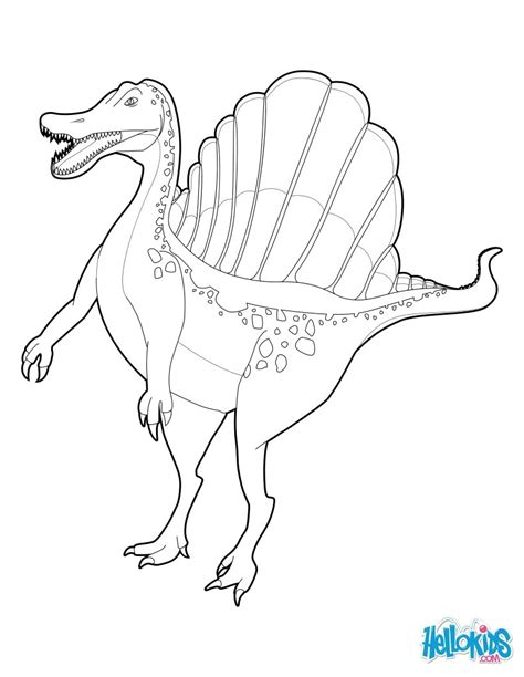 Spinosaurus Coloring Pages Hellokids Com Spinosaurus Coloring Pages