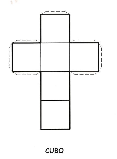 figuras geometricas un cubo molde para hacer un cubo para imprimir imagui