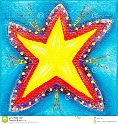 vibrant star painting stock illustration image