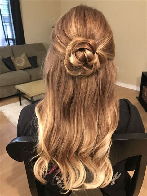rose hairstyle half up half down 5189 best images about hair nails on pinterest