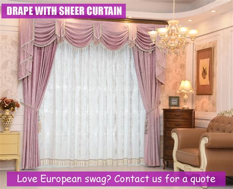 swag drape bedroom pink curtains swag pelmet valance sheer drapes