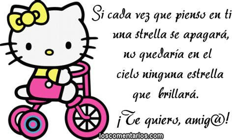 imagenes de hello kitty con frases de amistad hello kitty imagenes para facebook