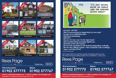 Estate Agent Flyers