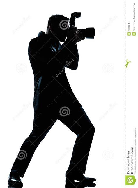 silhouette man full length photographer royalty  stock
