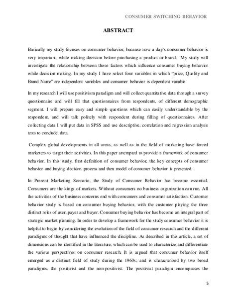 dissertation reports dissertation report on consumer behaviour in shopping