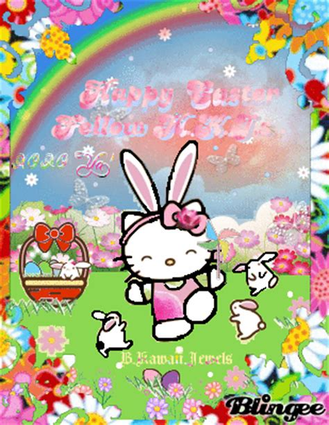 free hello kitty easter wallpaper hello kitty easter bunny picture 109291163 blingee com