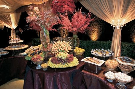 fruit table for wedding reception timeless fall estate wedding in bel air california