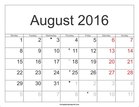 printable monthly calendar with holidays 2016 august 2016 calendar printable with holidays pdf and jpg