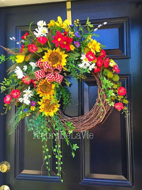 Front Door Wreaths Etsy 17 Best Images About A Front Door For All Seasons On Mesh Wreaths Summer