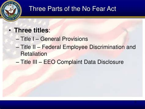 what are the sections of the act ppt prepared by naval office of eeo complaints
