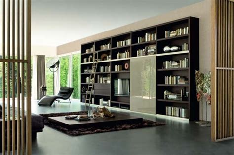 Modern Living Room Bookcases Attractive And Cool Idea Of Bookshelves For Your Home