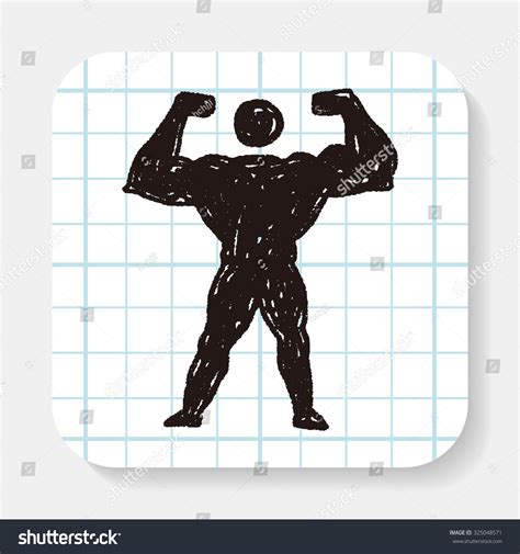 doodle strong strong doodle stock photo 325048571