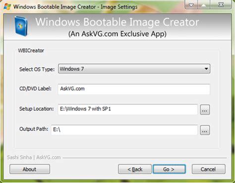 setup xp portable wbi creator create bootable iso of windows xp vista 7