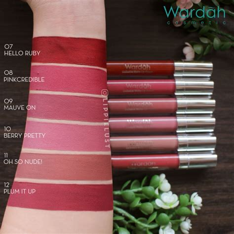 Harga Make Lip Matte swatches review wardah exclusive matte lip 12