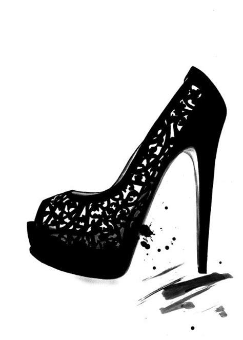 shoe illustration ideas  pinterest fashion