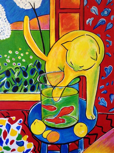 Artwork Of Henri Matisse by Henri Matisse The Cat With Red Fish Replica 100 Hand Painted