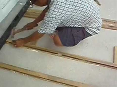 Video Timber Flooring Malaysia   Install Decking Batten