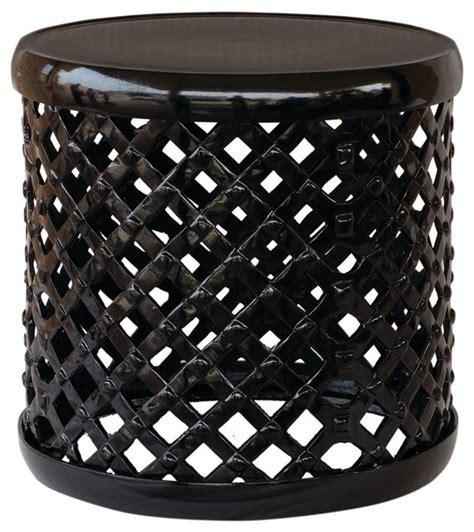 lattice garden stool black lattice garden stool