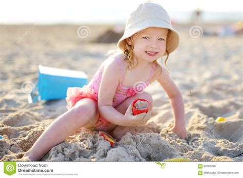 Fan Sanden with the sand stock photo