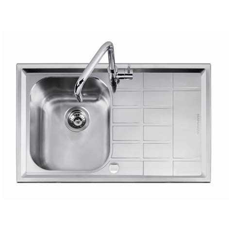 Bunnings Sinks by Abey Level 100 Left Bowl Stainless Steel Sink