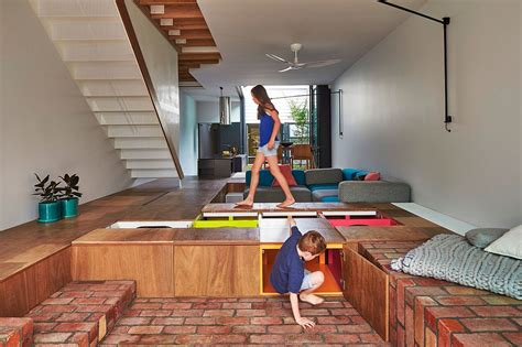 floor storage custom design turns the floor into toy storage space