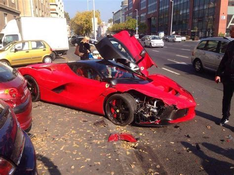 laferrari crash laferrari crashes in budapest gtspirit