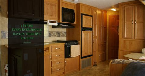 Kitchen Accessories For Motorhomes 7 Must Use Rving Kitchen Tips Rving How