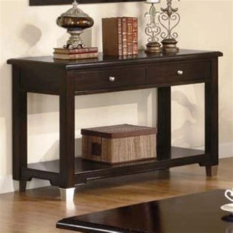 dark brown sofa table rich dark brown sofa table console sofa tables