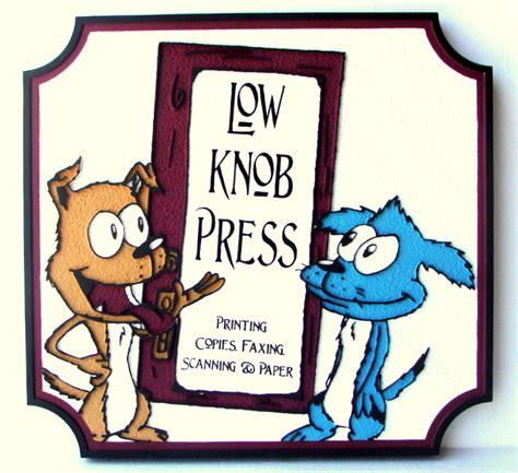 Low Knob Press retail store shop small business identification signs