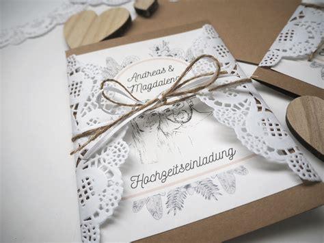 Einladungen Hochzeit Vintage Spitze by Diy Hochzeitseinladungen Vintage Spitze