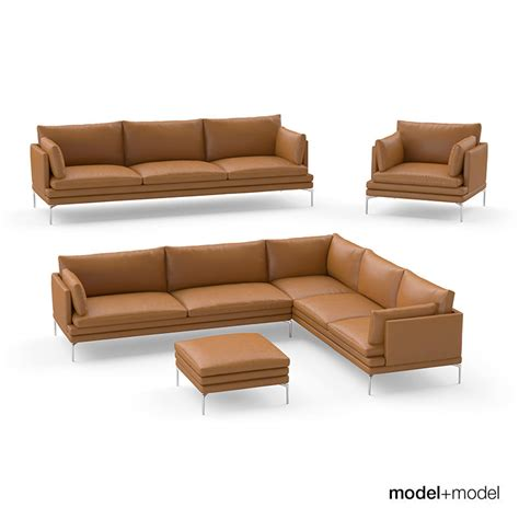 william sofa zanotta william sofas 3d model max obj fbx cgtrader com