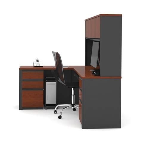 bestar prestige l desk bestar prestige l shape wood computer desk in bordeaux