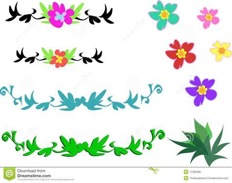 tatuaggi fiori tropicali miscela dei fiori tropicali e dei disegni immagine stock