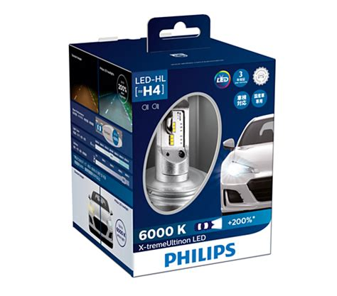 Led H4 Philips x treme ultinon led car headlight bulb 12953bwx2 philips