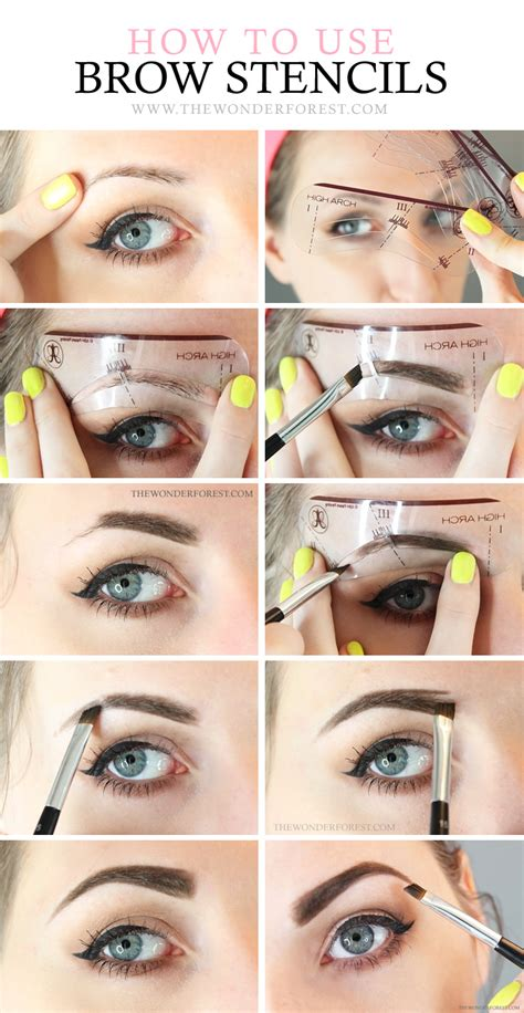 tutorial eyeliner stencil how to use eyebrow stencils like a pro wonder forest