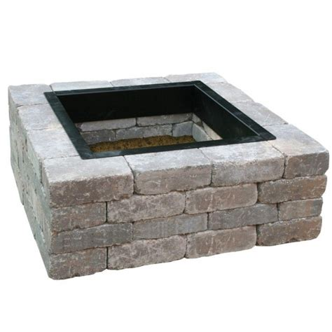 fascinating diy ellissurf fire pit bricks home depot